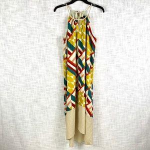Outback Red geometric print midi dress, size large